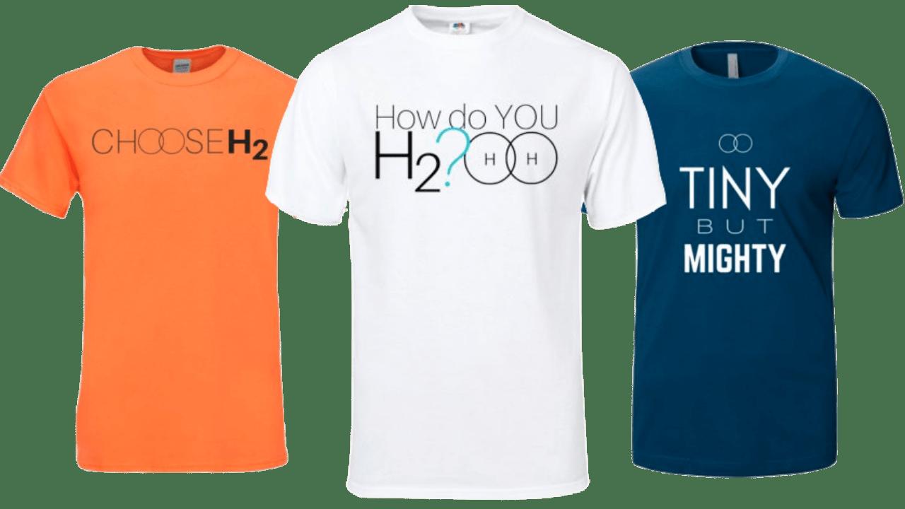Shirts to market hydrogen water